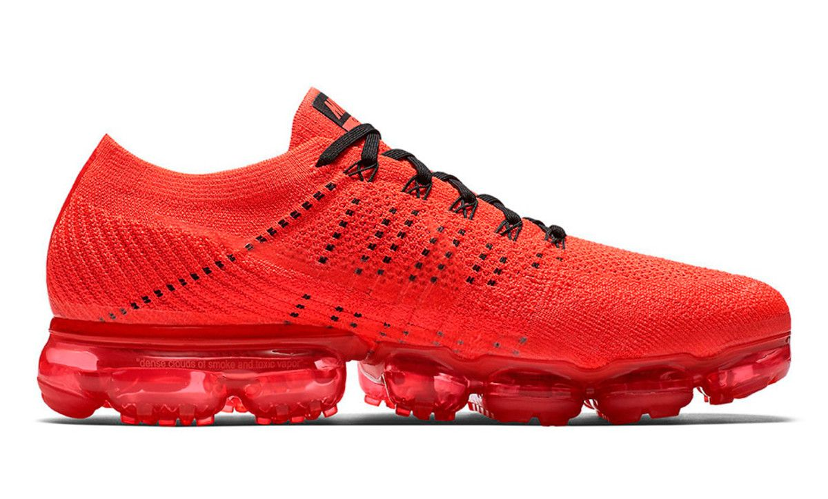 promo code 607ec 0cbea CLOT Gives the Nike Air VaporMax an All-Red Makeover | Life ...