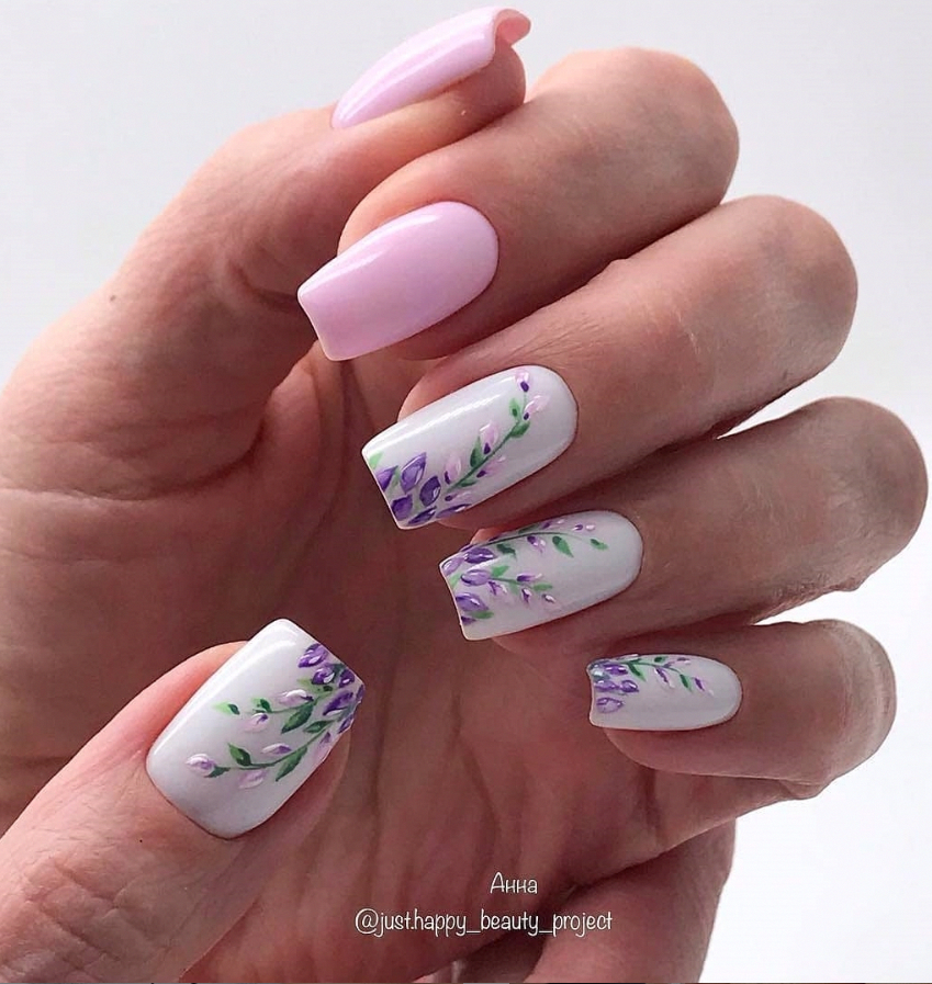 100 Lovely Early Spring Short Nails Art Design And Colors Ideas Naildesignsspring Kurze Acrylnagel Viereckige Nagel Bunte Nagel