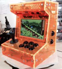 Bartop Tabletop Arcade Cabinet Diy Kit Flat Pack Mdf W Marquee Holder Happ Diy Arcade Cabinet Arcade Arcade Cabinet