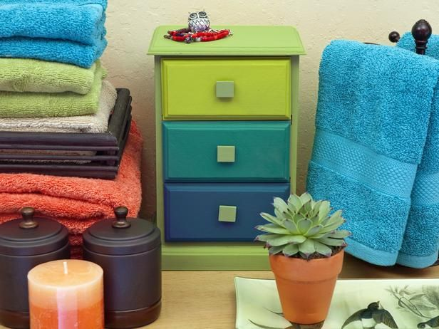 Give a small jewelry chest an ombre makeover by painting it in shades from lazuli blue to sage.