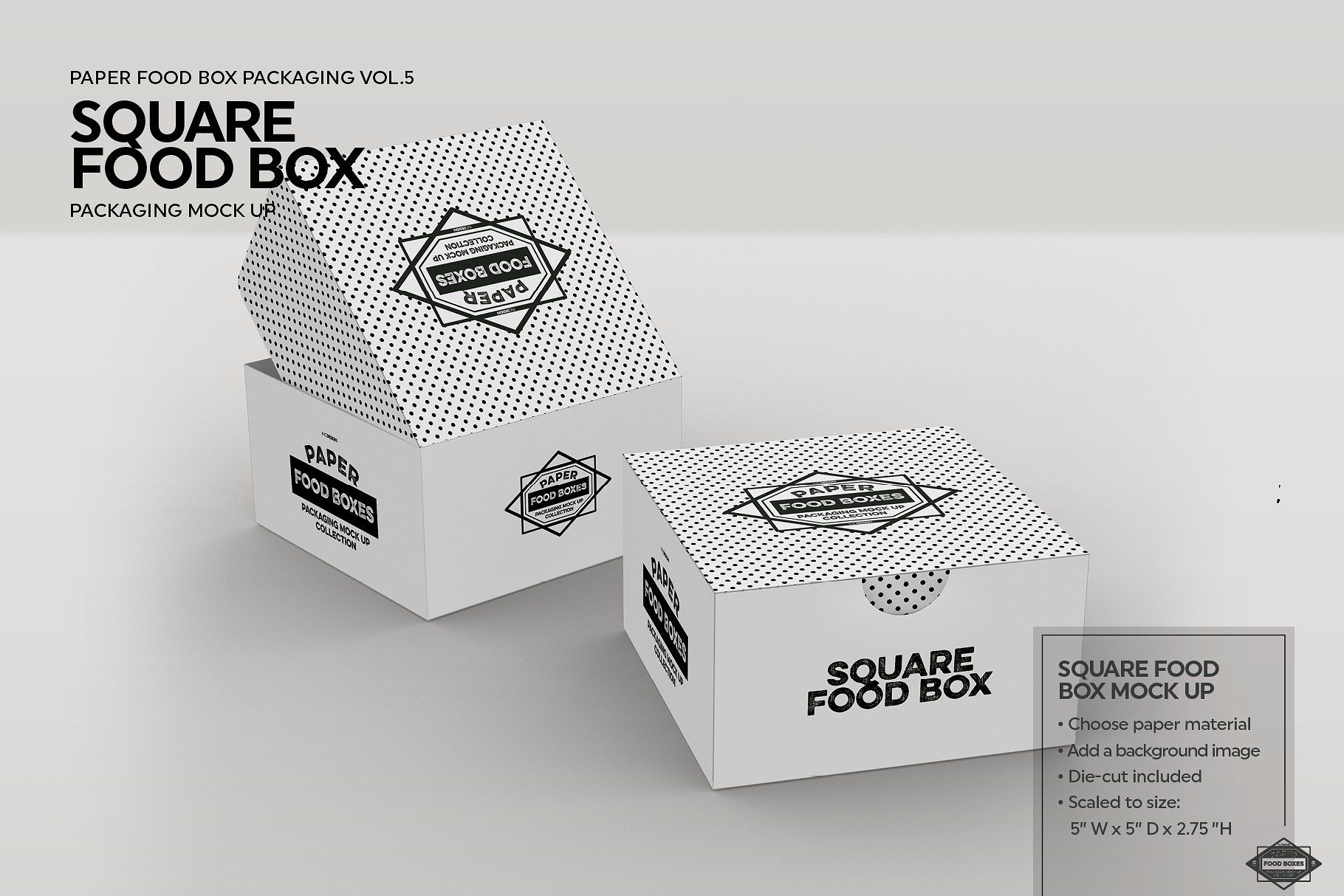 Download Square Fold Out Box Packaging Mockup Packaging Mockup Free Packaging Mockup Food Box Packaging