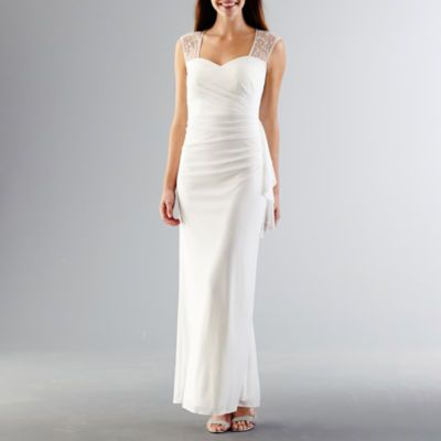 jcpenney - Simply Liliana Strapless Peplum Wedding Gown - jcpenney ...