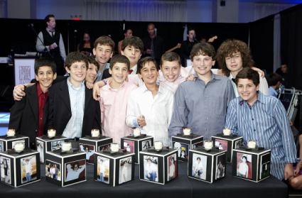 Candle lighting picture cubes ideas de fiesta tela y fiestas candle lighting photo cube pictures of the bar mitzvah child with the guests who are aloadofball Image collections