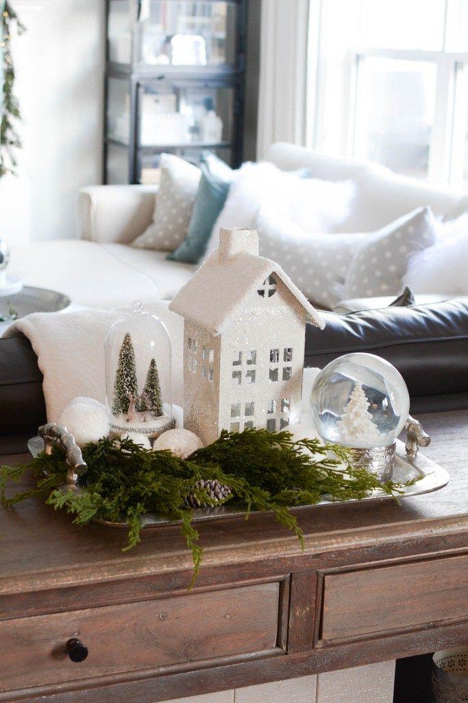 White Christmas Theme Decor Tips + Ideas (Home Tour) - A Pop of Pretty Canadian Home Decor Blog #farmhousechristmasdecor