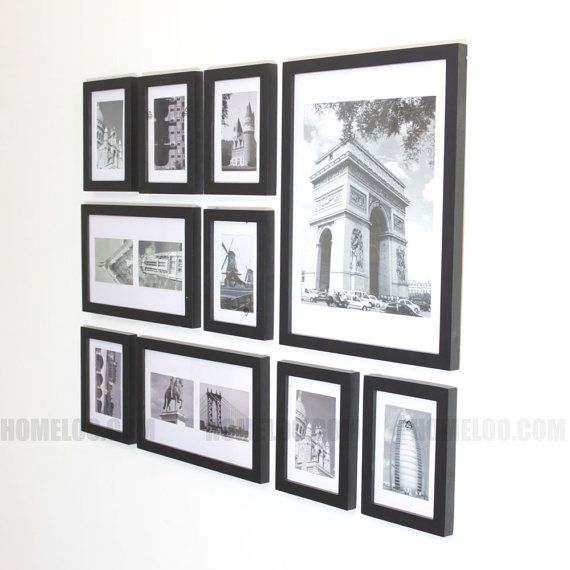 Create The Perfect Picture Wall In Minutes Fast And Easy Material Solid Wood And Plexiglass Acrylic L Gallery Wall Layout Frame Wall Collage Frames On Wall