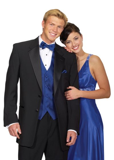 black tux with navy vest for wedding | Blue color to black and ...