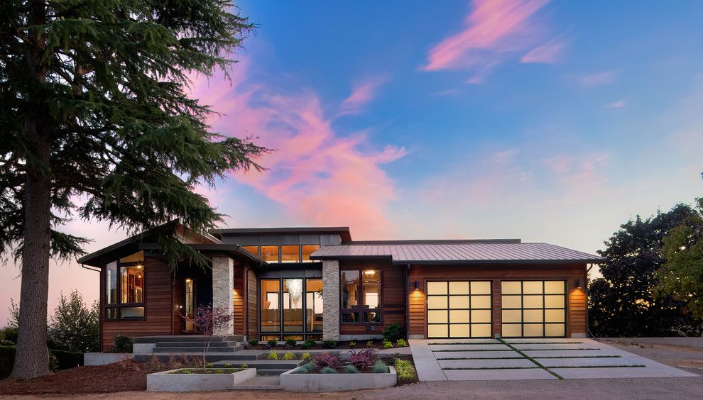 Rustic Home Designs Exterior Contemporary With Clerestory Concrete