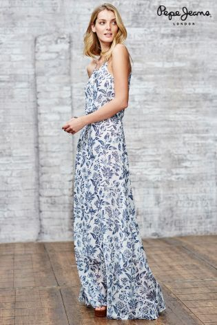Pepe jeans printed maxi dress