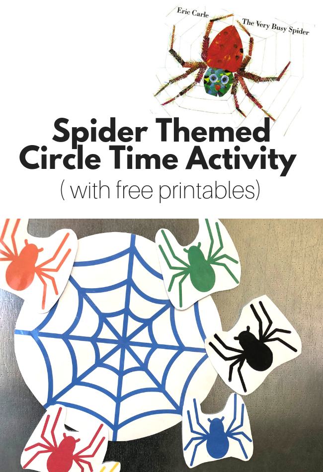 Spider Themed Circle Time Activity with Free Printables