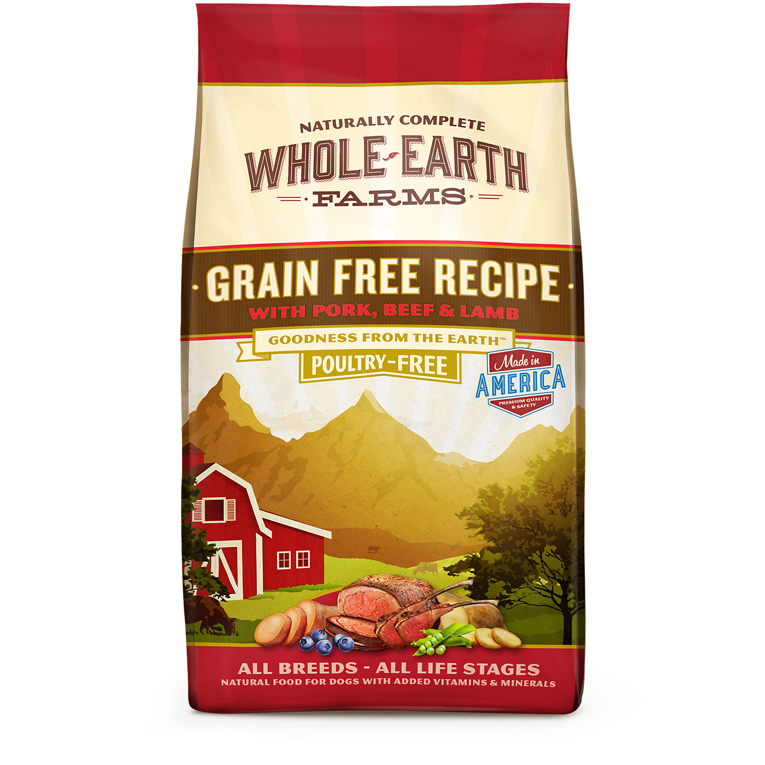 Whole Earth Farms Grain Free Recipe With Pork Beef Lamb Dry Dog