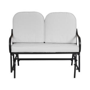 Hampton Bay Fall River Patio Double Glider With Bare Cushion DY11034 G B At  The