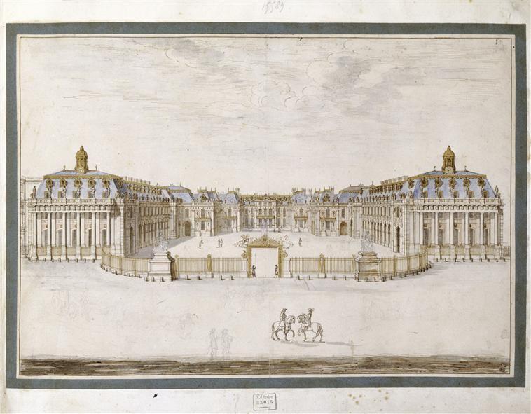 Aquarelle De Israel Sylvestre 1621 1691 Reproduisant Le Chateau