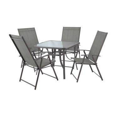 TERRACE LEISURE Manor Textilene W\folding Chairs | Makro ...