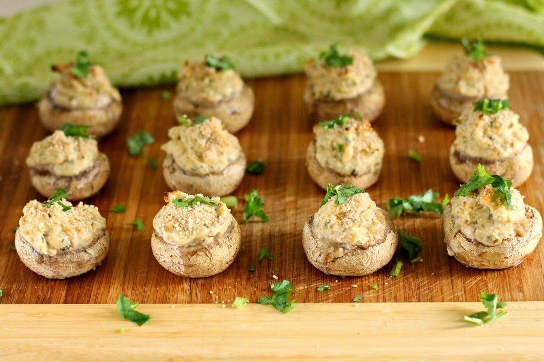 Chocolate & Chillies - Recipes. Reviews. Giveaways.: My Ninja Naan Baby Shower - Cream Cheese Stuffed Mushrooms