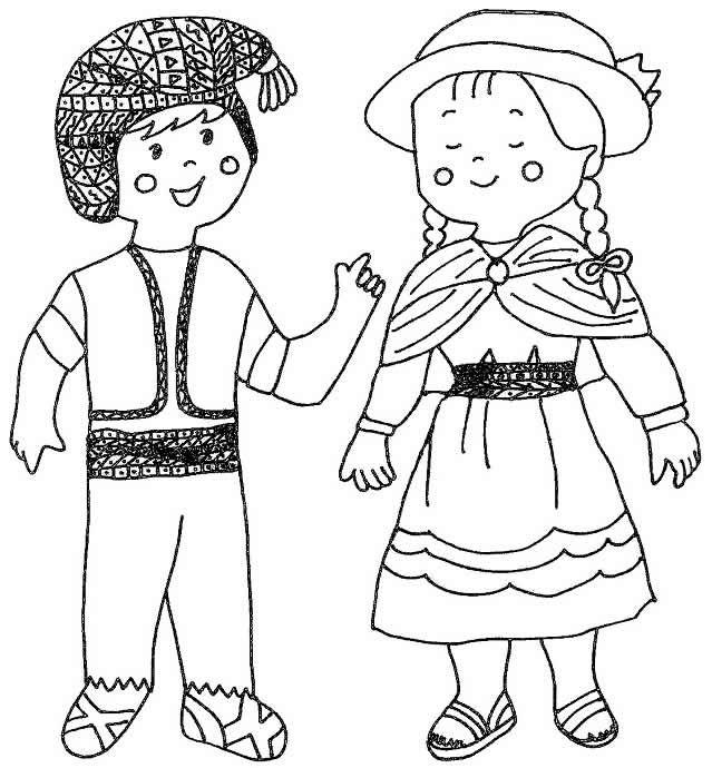 Cuentosdedoncococom Niños De La Sierra Para Colorear Fichas