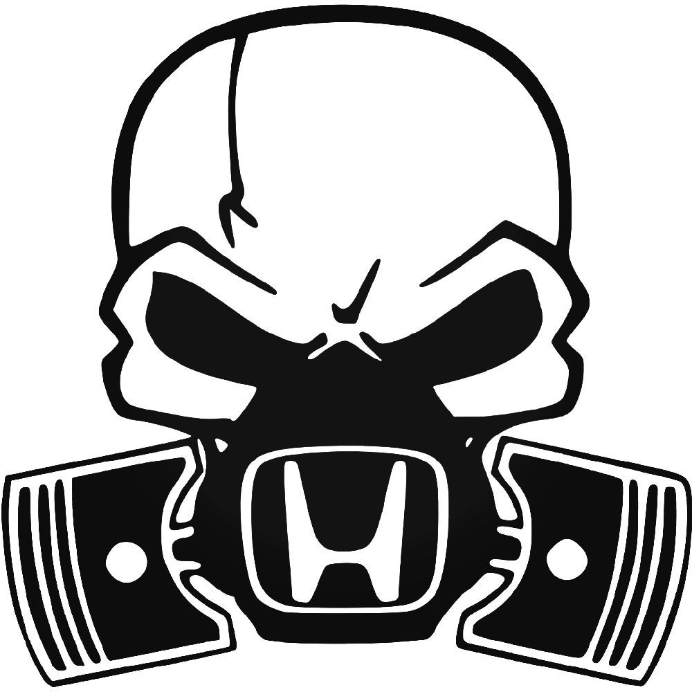 Honda skull mask vinyl decal sticker ballzbeatz com