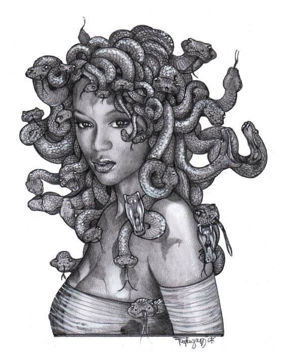 Medusa Artwork Tattoo: Pin On Futuristically Ancient