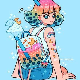 Photo of rainbow boba backpack by fresh_bobatae