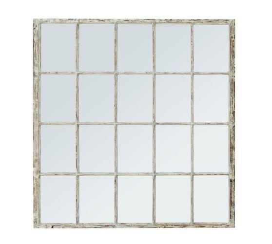 White Paned Mirror Con Im 225 Genes