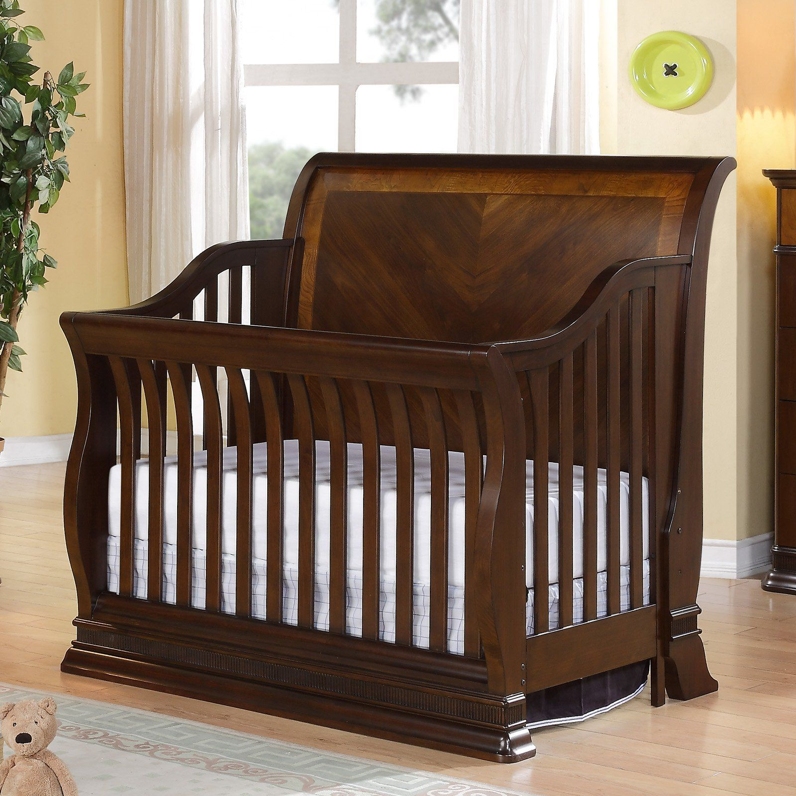 Munire Furniture Portland 4 In 1 Convertible Crib Cinnamon From Hayneedle Com Cribs Convertible Crib Furniture