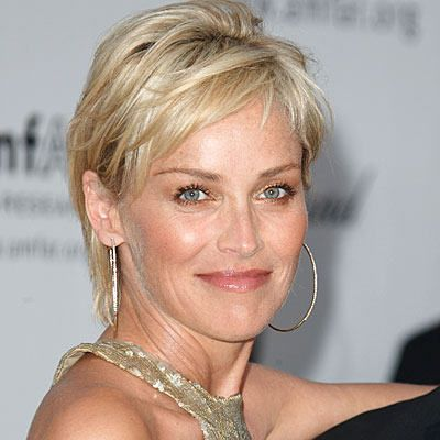 sharon stone haircut Google Search Coiffures cheveux