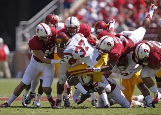 Usc Takes Advantage Of Stanford S Many Miscues September 6 2014 Usc Stanford Cardinal Stanford
