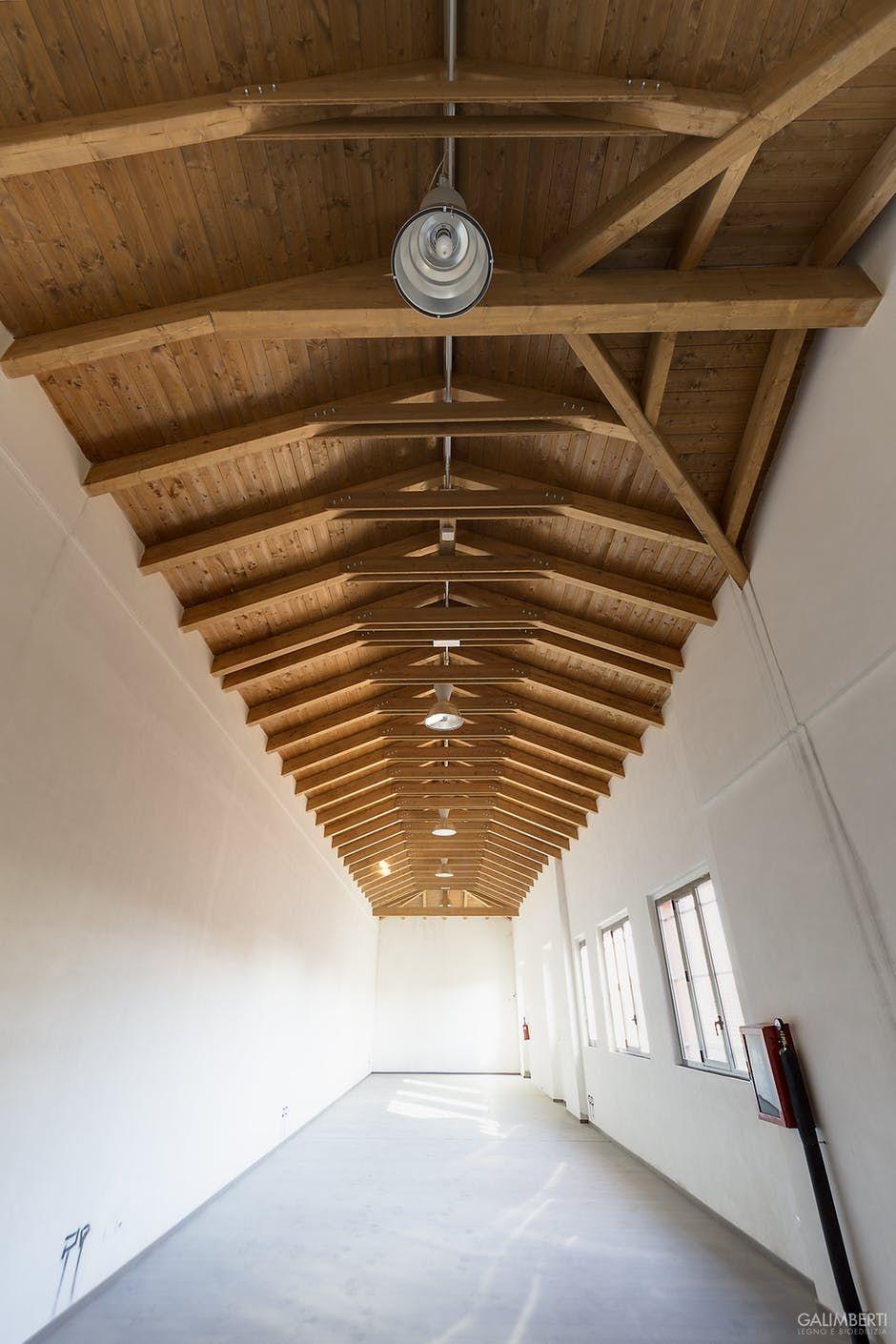 Progetto Capriata In Legno copertura salone con capriate in legno galimberti legno e