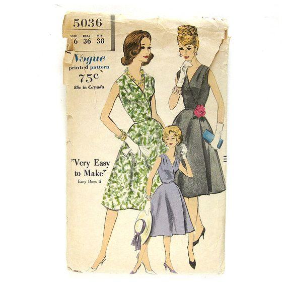 1960s Vintage Sewing Pattern / Vogue 5036 Madman Easy To Make WRAP ...