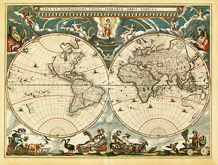 1664 old world antique map worldmap antique maps and vintage wood old world antique maps giclee reproduction unframed or framed in vintage wood burl frame custom sizes made in usa by museum outlets antiquemap worldmap gumiabroncs Images