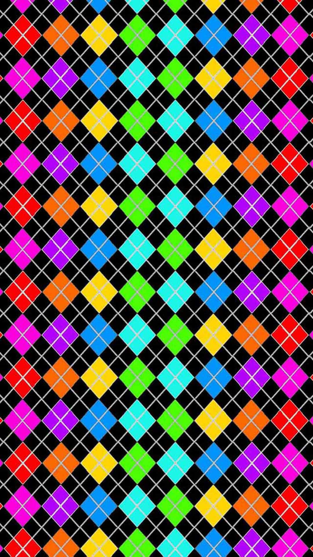 Rainbow Black Argyle