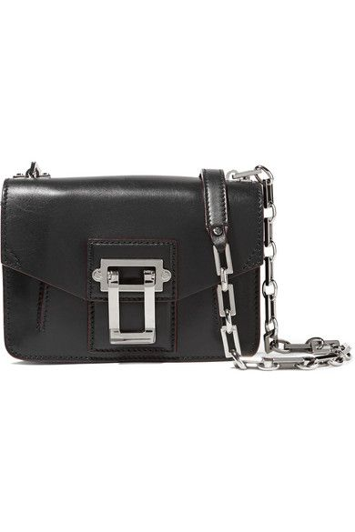 Black leather (Calf) Flip-lock fastening front flap Weighs approximately 2lbs/ 0.9kg Made in Italy