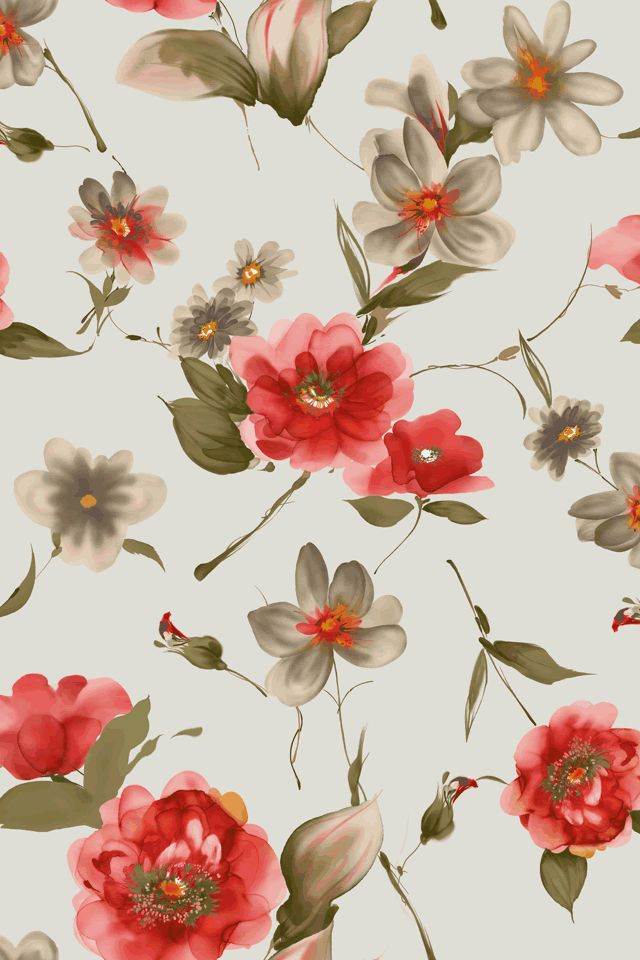 I heart floral wallpaper