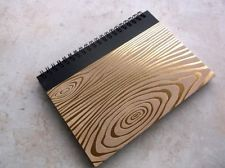 Writing Journal - Wood Grain Gold Foil 5 x 7 with lined pages