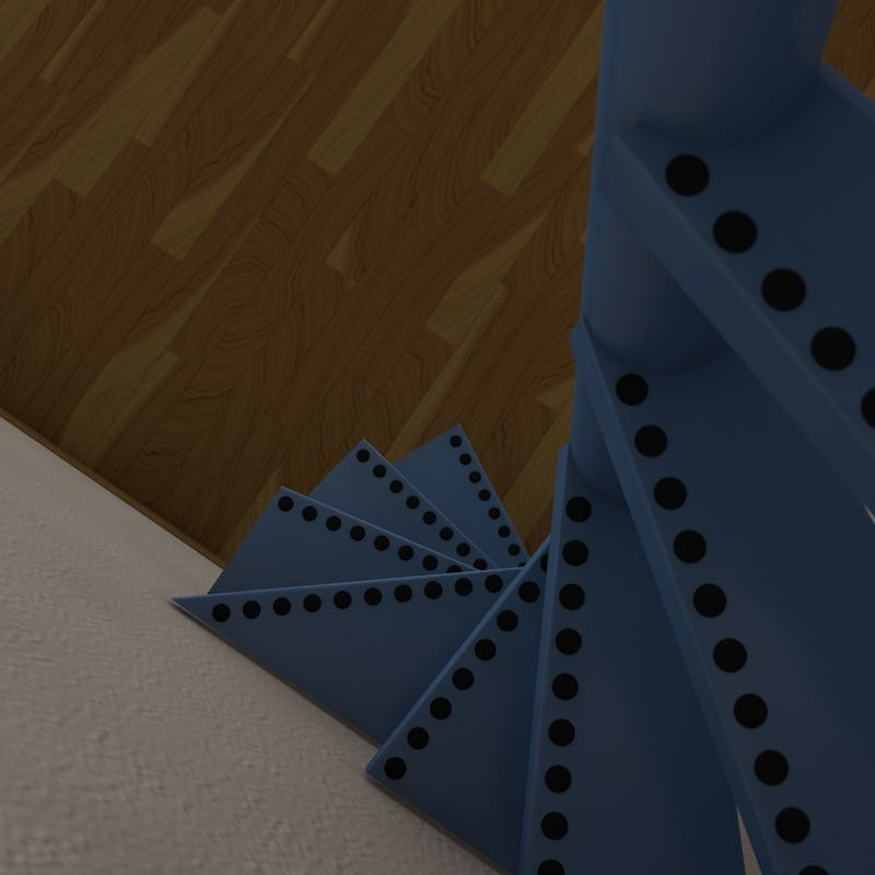 Best 3D Model Of Real Floating Spiral Staircase Escaleras 640 x 480