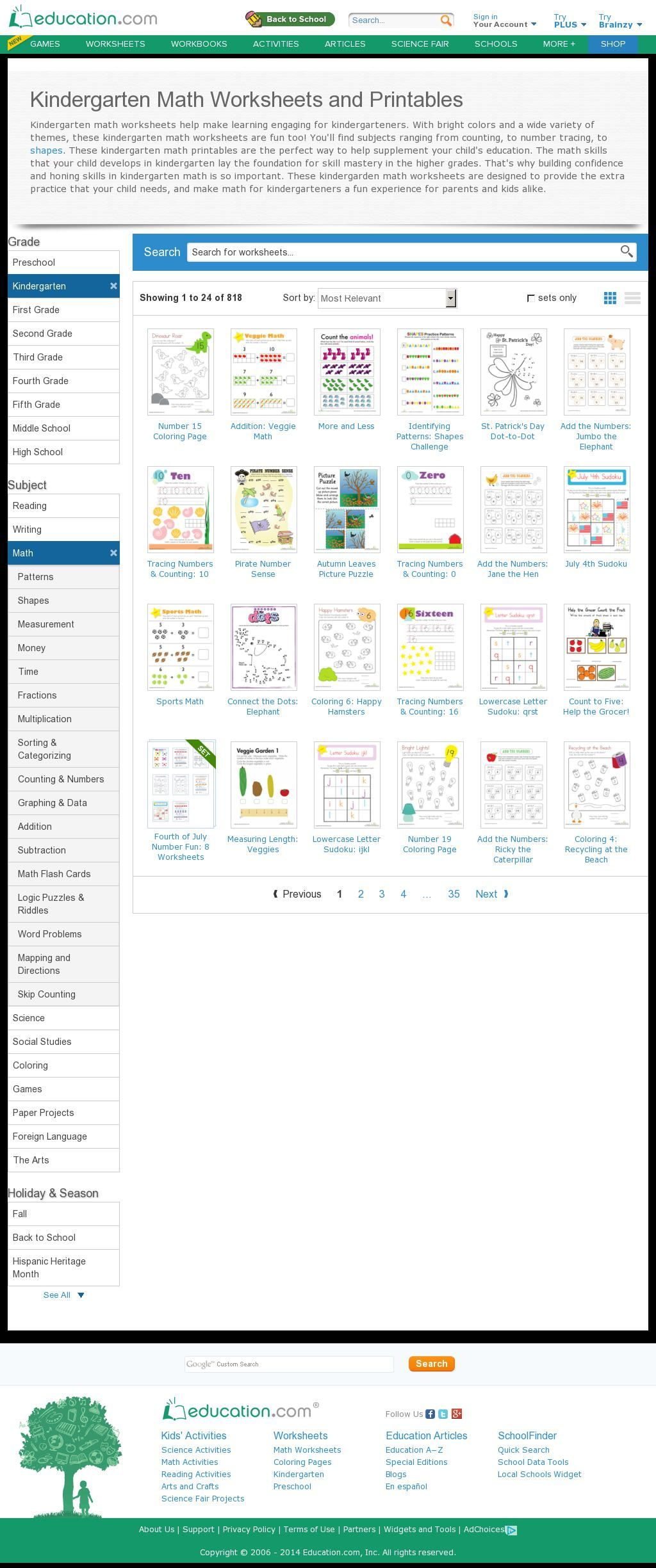 The Website Cation Worksheets