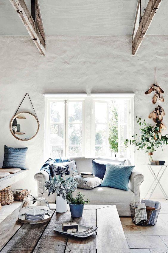 living room blue and white - house&more   Pinterest - Frans ...