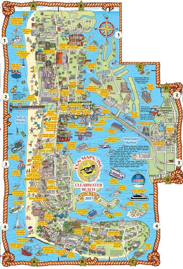 Map Of Clearwater Beach Hotels : clearwater, beach, hotels, Clearwater, Beach, Florida, Hotels,, Restaurants,
