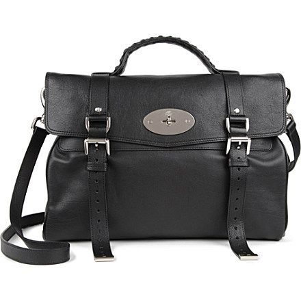 Alexa oversized polished leather satchel - MULBERRY - MULBERRY - Collection A - Brand rooms - Bags | selfridges.com
