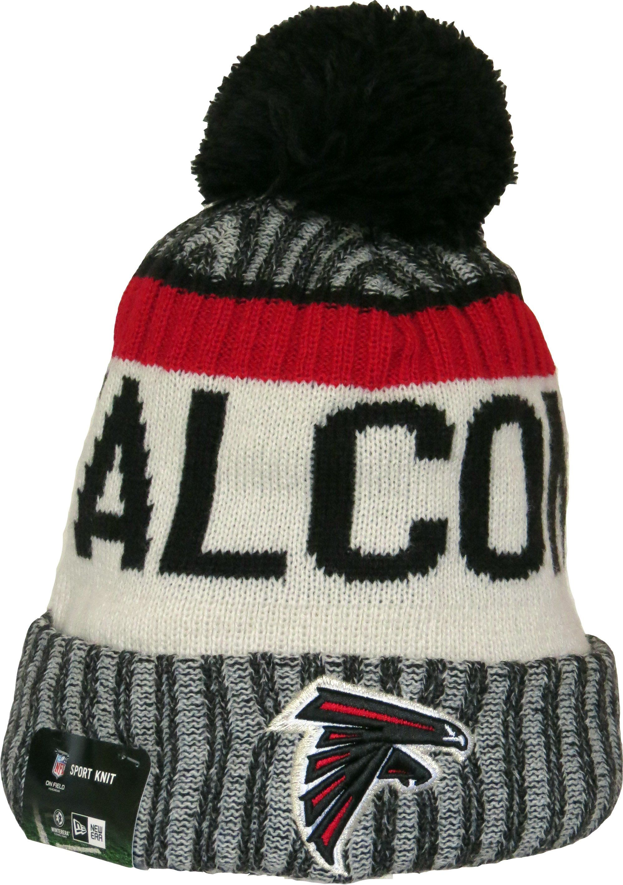Atlanta Falcons New Era NFL 2017 On Field Sport Knit Bobble Hat. Team  colours with the Team logo 902328b9d