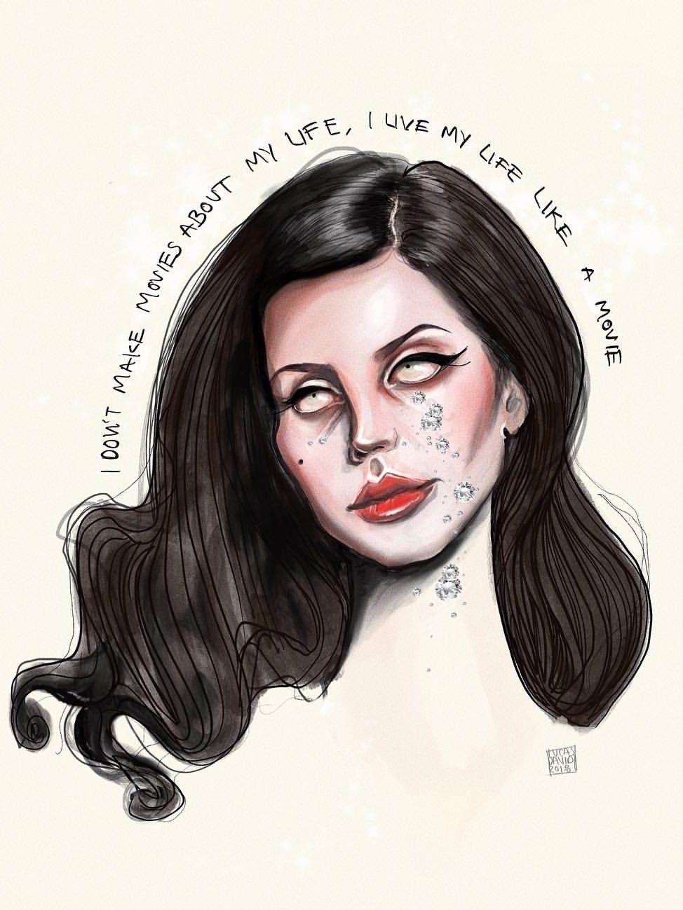Lana Del Rey Art By Lucas David Lana Del Rey Art Lucas David Lana Del Rey Tattoos