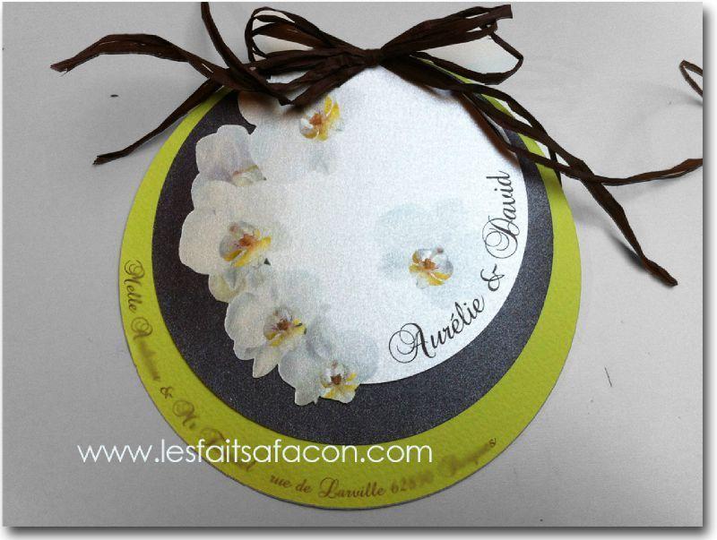 Beliebt Faire-part rond et orchidées | Mariage | Pinterest | Orchidées  YM25