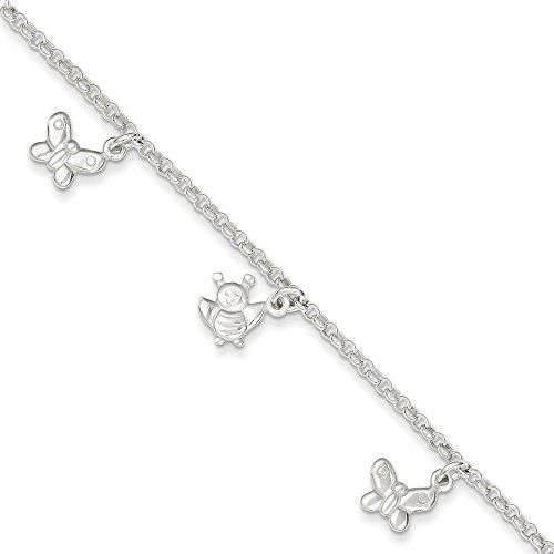 beautiful bracelets alternate products adjustable thin silver beaded chain photo ankle inch jewelry figaro anklet wholesale classic sterling bracelet
