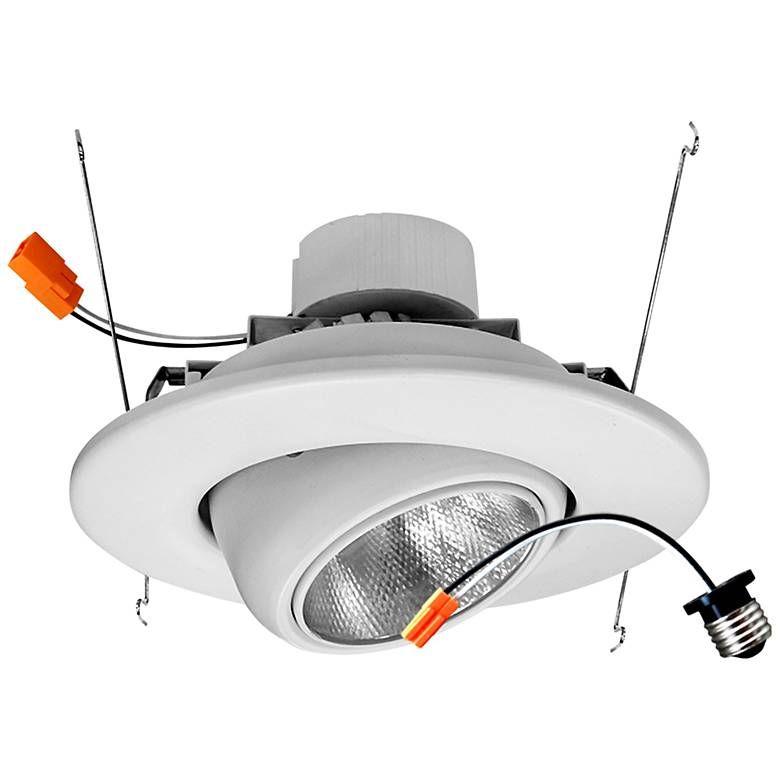 6 White Eyeball 19 Watt Led Retrofit Trim 44c39 Lamps Plus Recessed Lighting Lamps Plus Kitchen Recessed Lighting