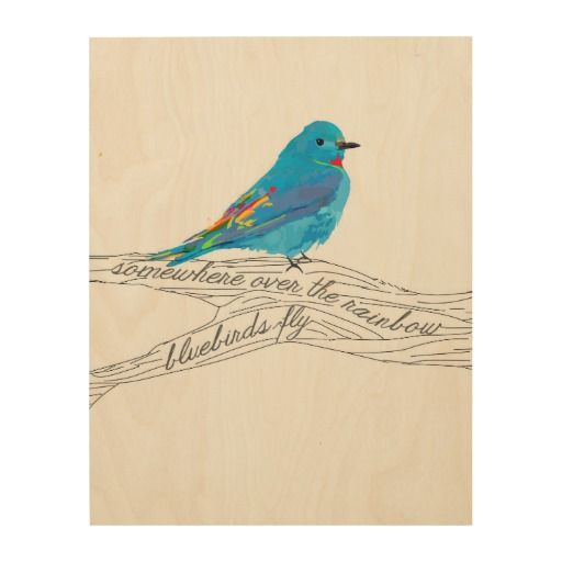 Wood Art Bluebirds Fly Design Zazzle Com Blue Bird Rainbow Tattoos Flying Bird Tattoo