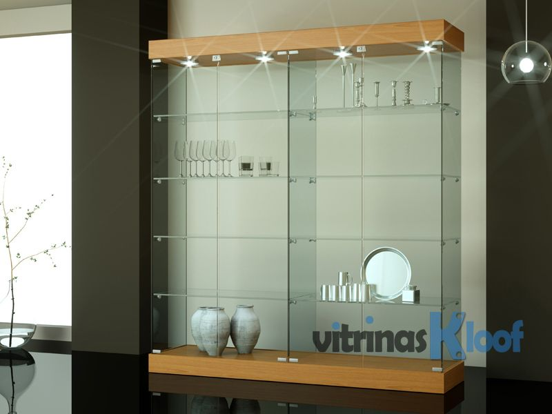 Vitrinas cristal grandes tama os vitrinas vitrinas - Vitrinas empotradas en pared ...