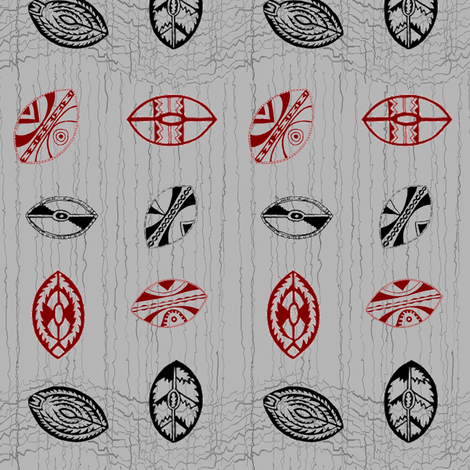African Shields-055 fabric by kkitwana on Spoonflower - custom