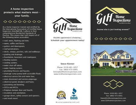 Business card inspector brochure and business card design glh home brochure and business card design for glh home inspections colourmoves