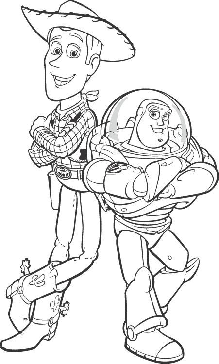 Buzz and Woody | Colouring pictures | Toy story coloring ...