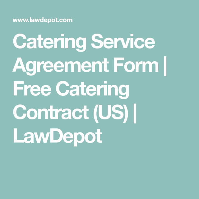 Catering Service Agreement Form  Free Catering Contract Us