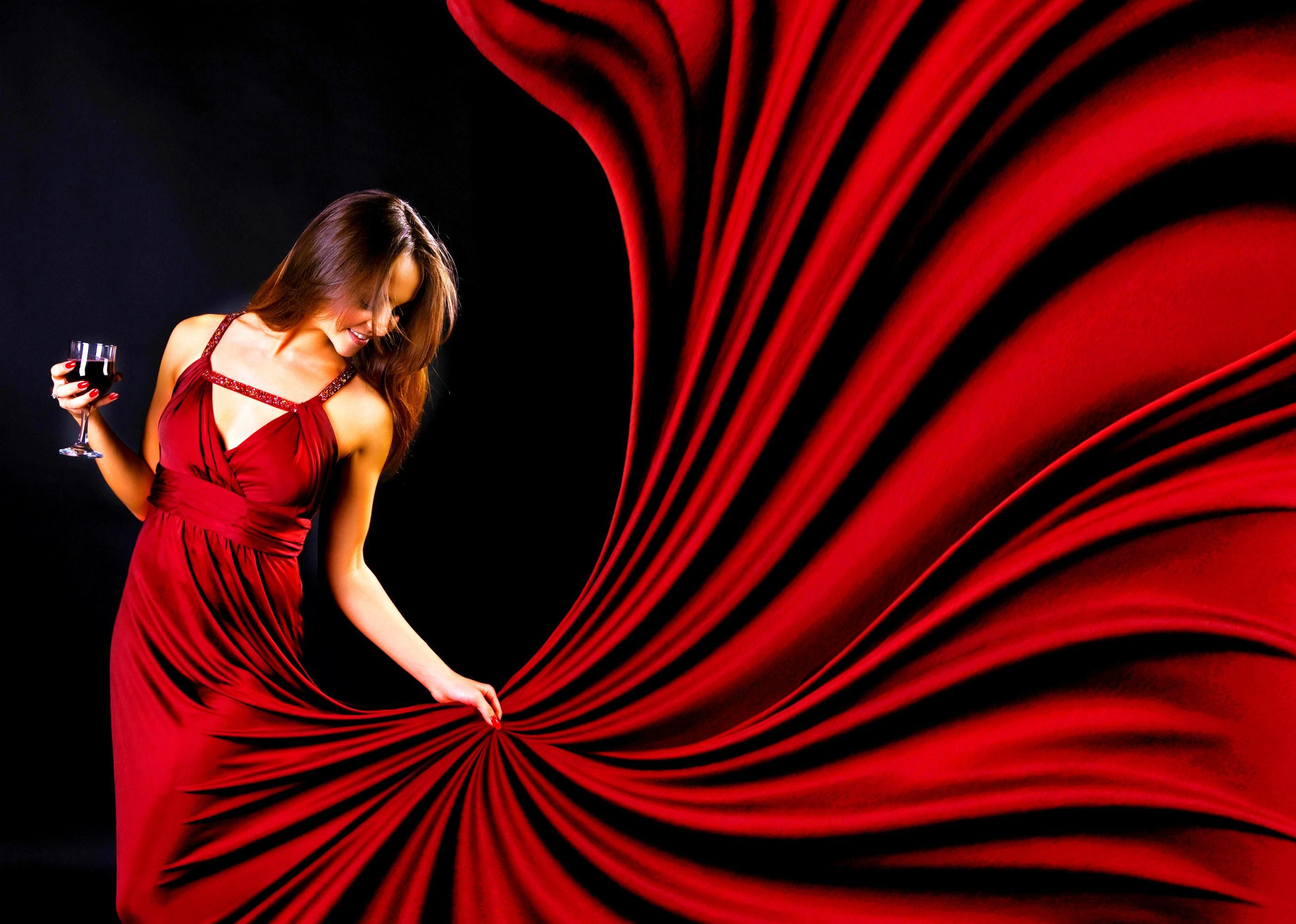 glamour lady in red - (#103238) - high quality and resolution